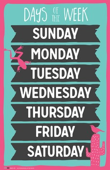 Days of the Week Poster by Think BIG