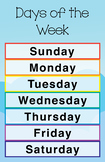 Days of the Week Poster/Chart