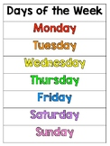 Days of the Week Poster {FREEBIE}