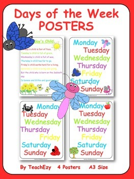 Days of the Week Posters