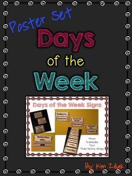 Days of the Week Posters {Primary Chevron}