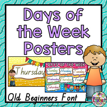 Days of the Week Posters QLD Beginners Font