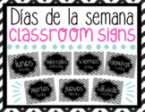 Days of the Week Posters in Spanish & English