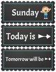Days of the Week Posters or Classroom ScheduleHeaders