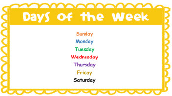 Days of the Week - Explicit Teaching Powerpoint
