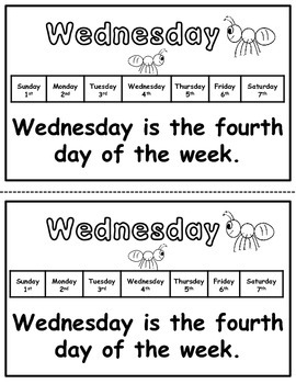 Days of the Week Practice Packet