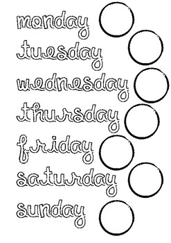 graphic regarding Kids Printable Activities identify Times of the 7 days Printable Video game for Little ones