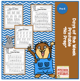 """Days of the Week Printable """"No Prep"""" with Critter"""