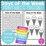 Days of the Week Printables FREEBIE