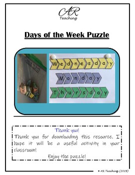 Days of the Week Puzzle