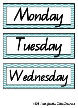 QLD Beginners Font: Days and Months