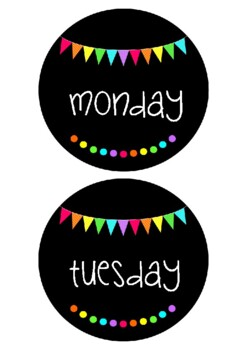 Days of the Week - Rainbow Flags