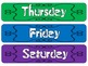 Days of the Week Rock Star Theme