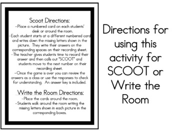 Days of the Week SCOOT or Write the Room Activity