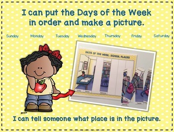 Days of the Week: School Places Puzzles