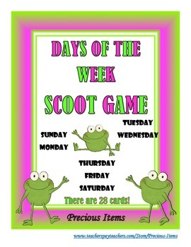 Days of the Week Scoot Game