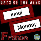 French Days of the Week Pocket Chart Cards and Worksheets Français Garnet