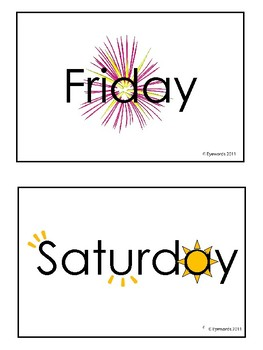 Days of the Week Sight Words