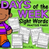 Days of the Week Sight Words Practice Pages