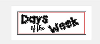 Days of the Week Signs FREE