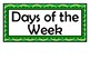 Days of the Week Signs - Green Chevron