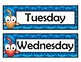 Days of the Week Signs - Fish Theme - Ocean Theme