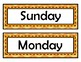 Days of the Week Signs - Orange Chevron