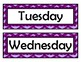 Days of the Week Signs - Purple Chevron