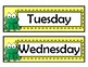 Days of the Week Signs - Red Chevron - Frog Theme