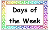 Days of the Week Signs- Stars