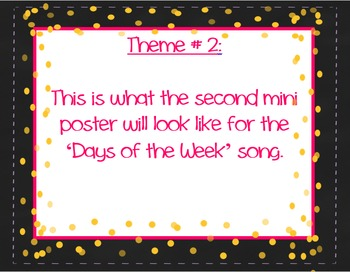Days of the Week Song - Mini Poster/Handout