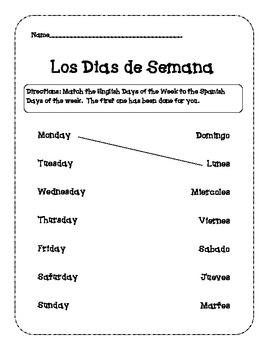 Days of the Week (Spanish)