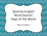 Days of the Week: Spanish English Word Search