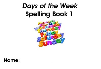 Days of the Week Spelling Workbook