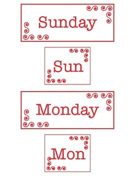 Days of the Week Spelling and Fluency Games