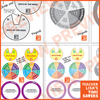Days of the Week Spinner - VIPKid Level 3 Our Day's On Earth