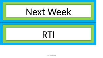 Days of the Week Sterilite Drawer Labels - Lime & Teal