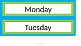 Days of the Week Sterilite Drawer Labels - Lime & Teal - Version 2