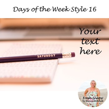 Days of the Week Styled Desk Image 16