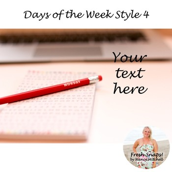 Days of the Week Styled Desk Image 4