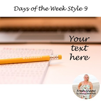 Days of the Week Styled Desk Image 9