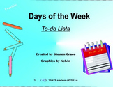 Days of the Week, To do List, Planner