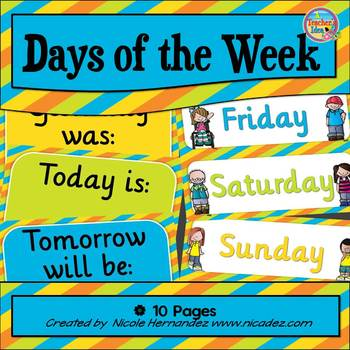 Days of the Week (Today is, Yesterday was, Tomorrow will be)