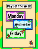 Days of the Week with Sea Creatures