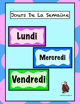 Days of the Week - Visual Schedule - French