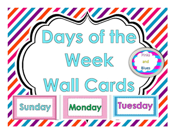Days of the Week Wall Cards
