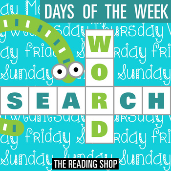 Days of the Week Word Search - Primary Grades - Wordsearch Puzzle