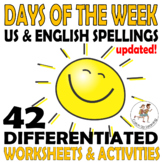 Days of the Week {worksheets} {activities}
