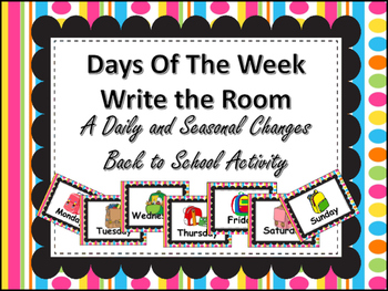Daily and Seasonal Changes Write the Room Science Fun