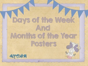 Days of the Week and Months of the Year